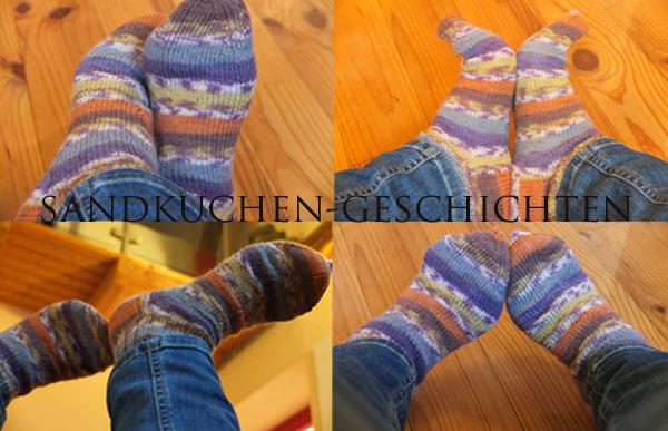 selbstgestrickte-Socken