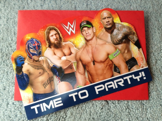 wrestlingparty-einladung